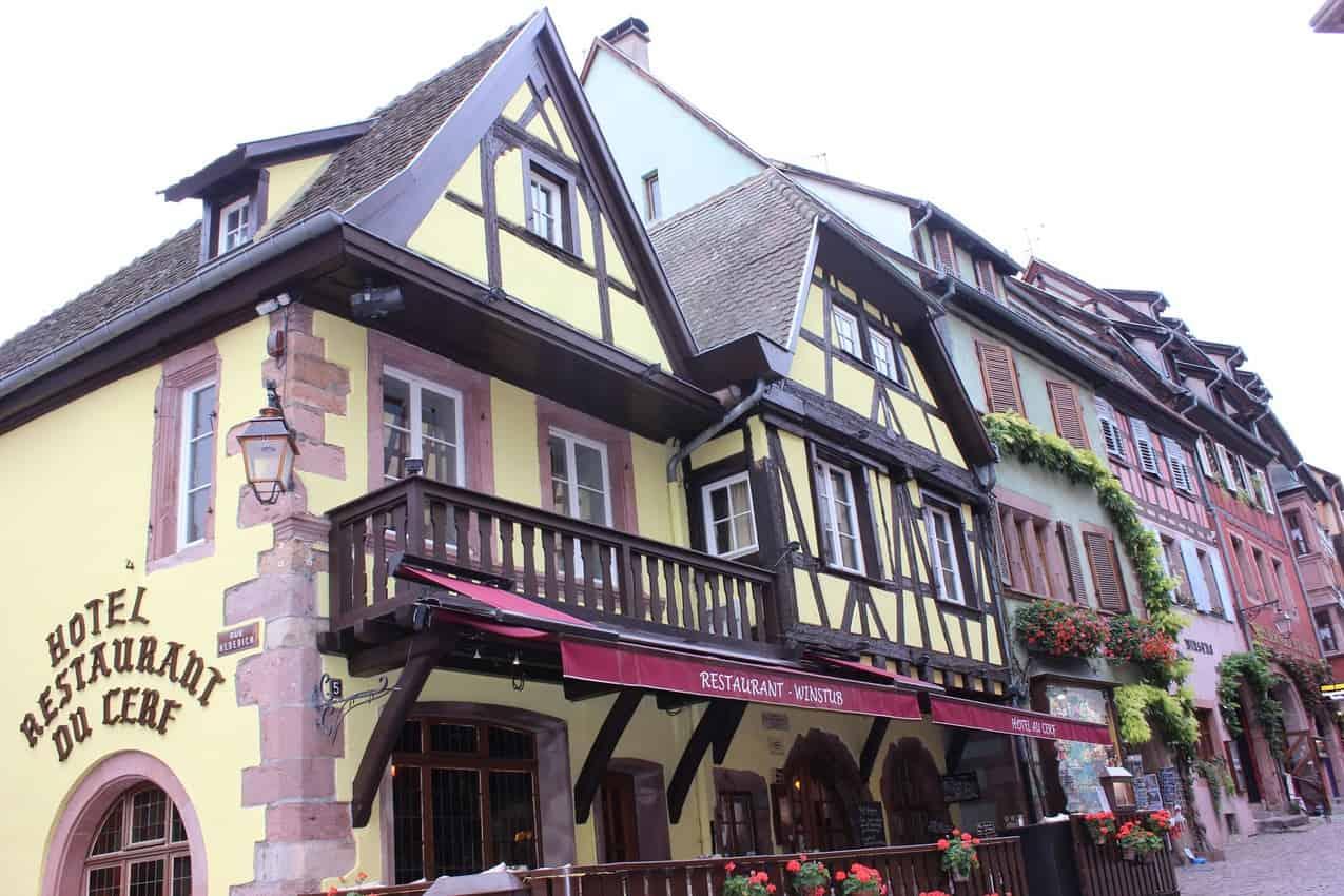 Hotel Restaurant du Cerf. Specialties include venison and foie gras.