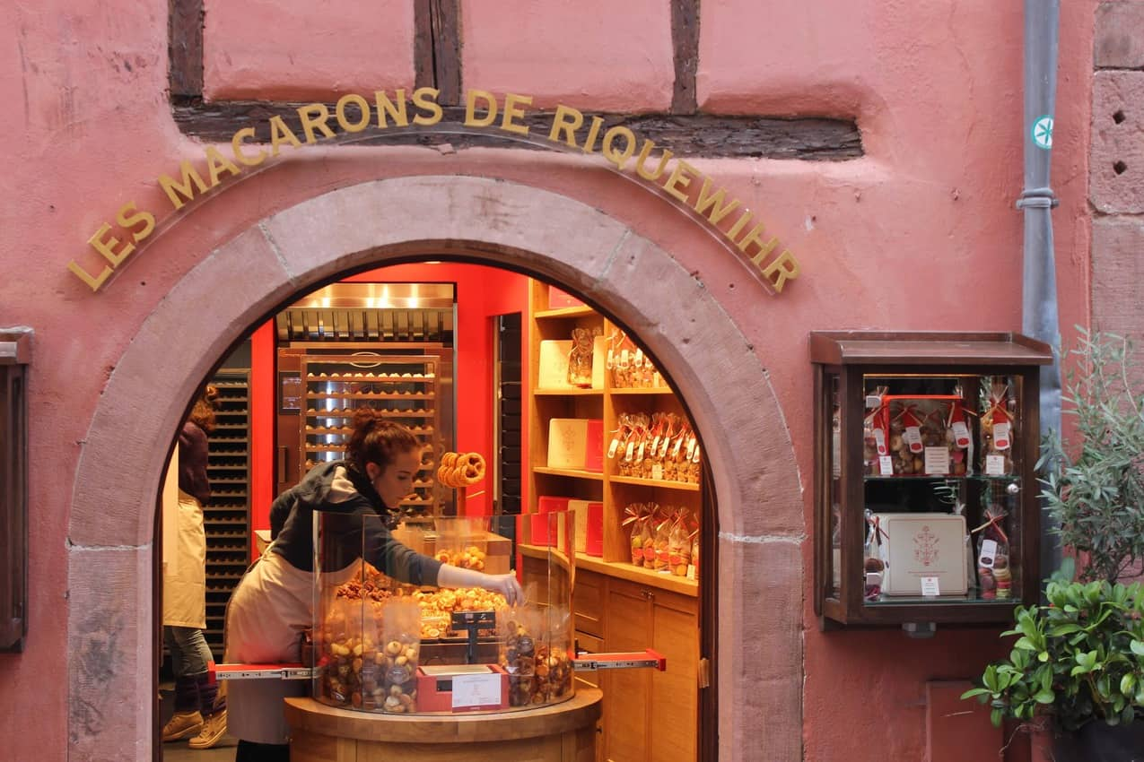 The Macarons shop in Riquewihr.