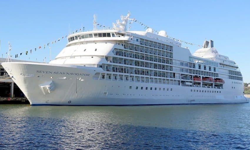 Morton's floating home, the Regent Sevens Seas Navigator.