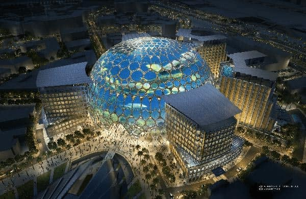 Al Wasl Plaza from a bird's-eye view.