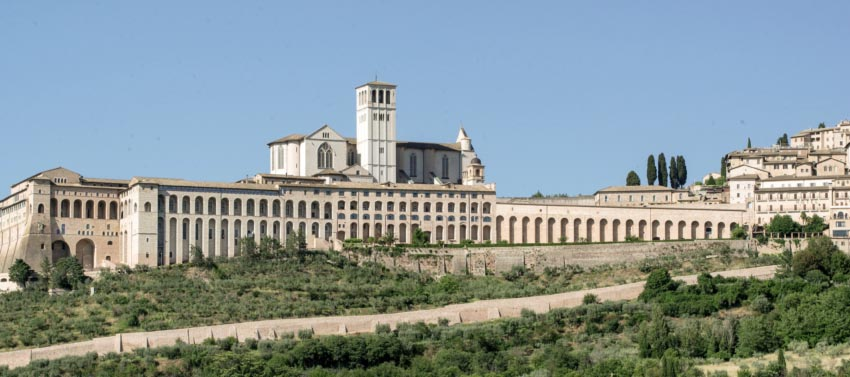 Basilica in Assisi, Italy