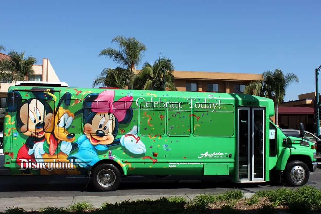 Disney Shuttle Bus Anaheim California