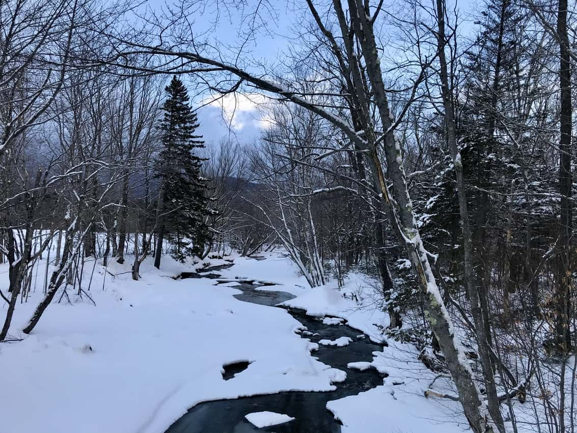 Over the river and through the woods on Great Glen groomed trails.