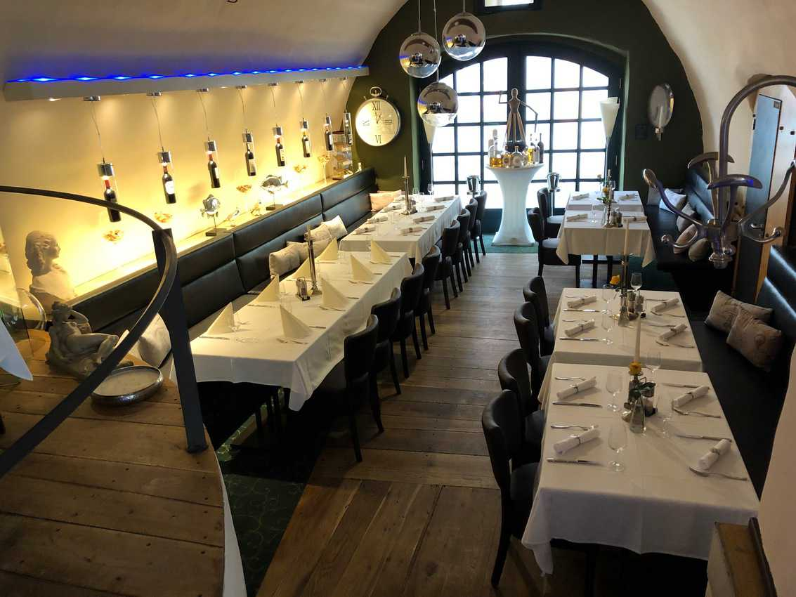 A cozy dining room in Gorlitz, Germany.
