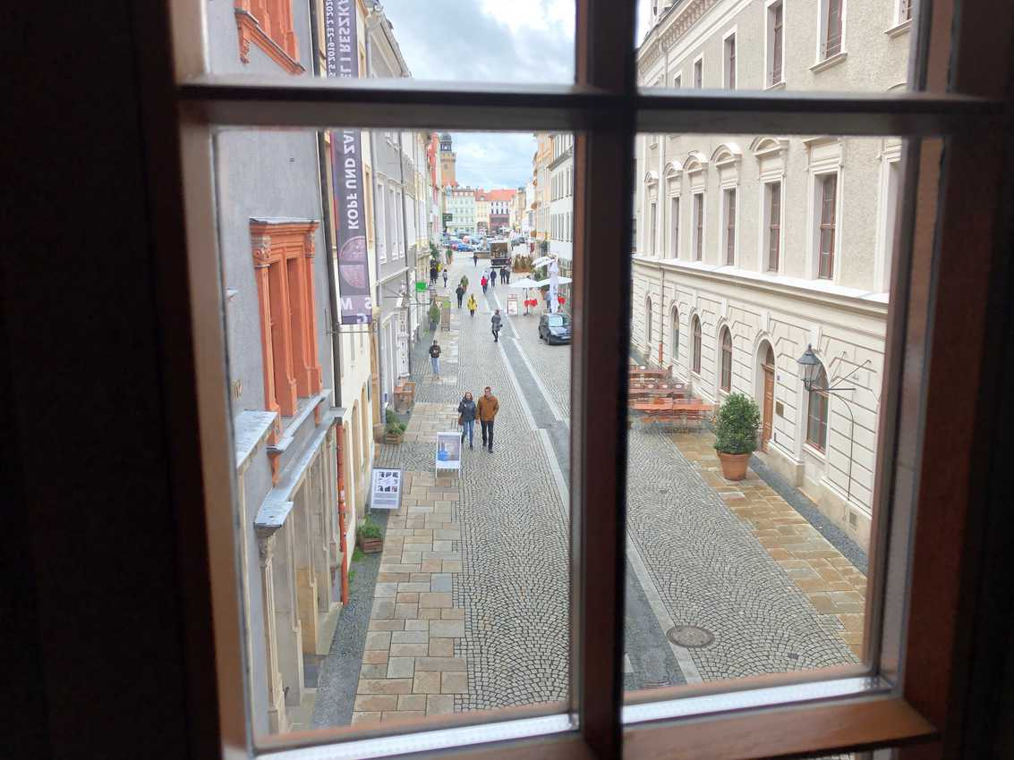 A view of the well-preserved streets of Gorlitz, Germany.