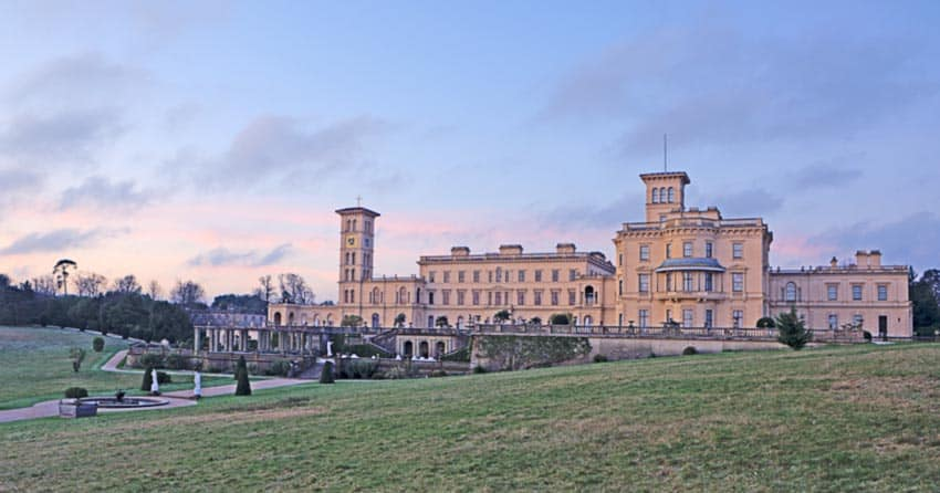The Osborne House on the Isle was once the Royal Summer Home of Queen Victoria.