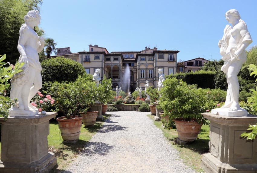 The garden at Palazzo Pfanner in the walled city of Lucca.