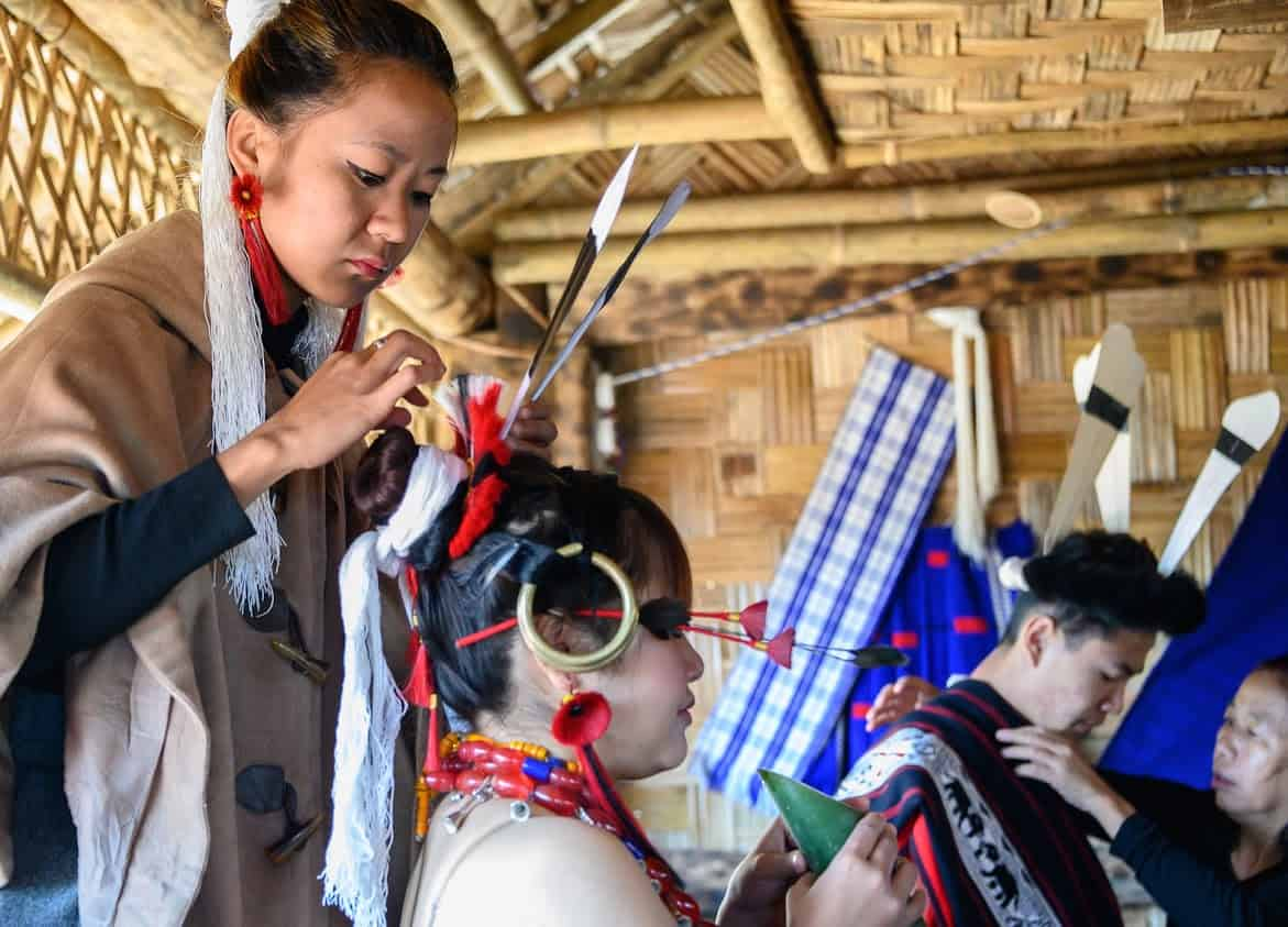 Family ties are strong in Nagaland, Northeast India, where Christianity plays a prominent role.