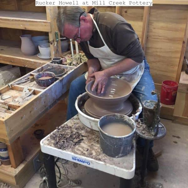Potter Rucker Howell in his studio.