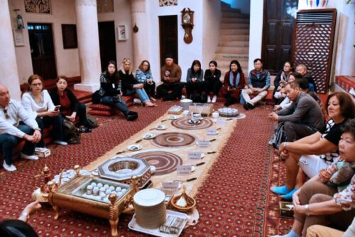 Visitors learn tradition at the Sheikh Mohammed Centre for Cultural Understanding