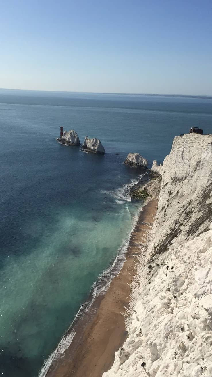 The Needles mark the Isle of Wight's most westerly tip