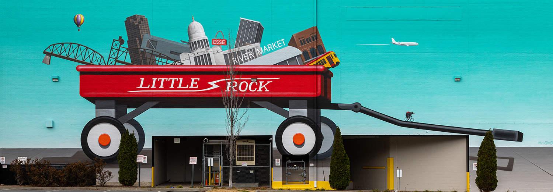 A Downtown Little Rock mural.
