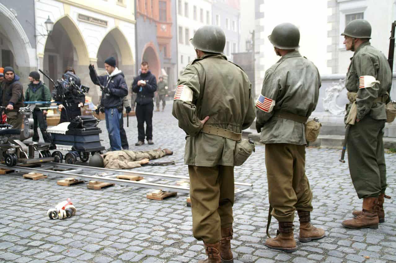 Behind the scenes filming of Inglorious Basterds in Görlitz. Quelle Stadtverwaltung photo.