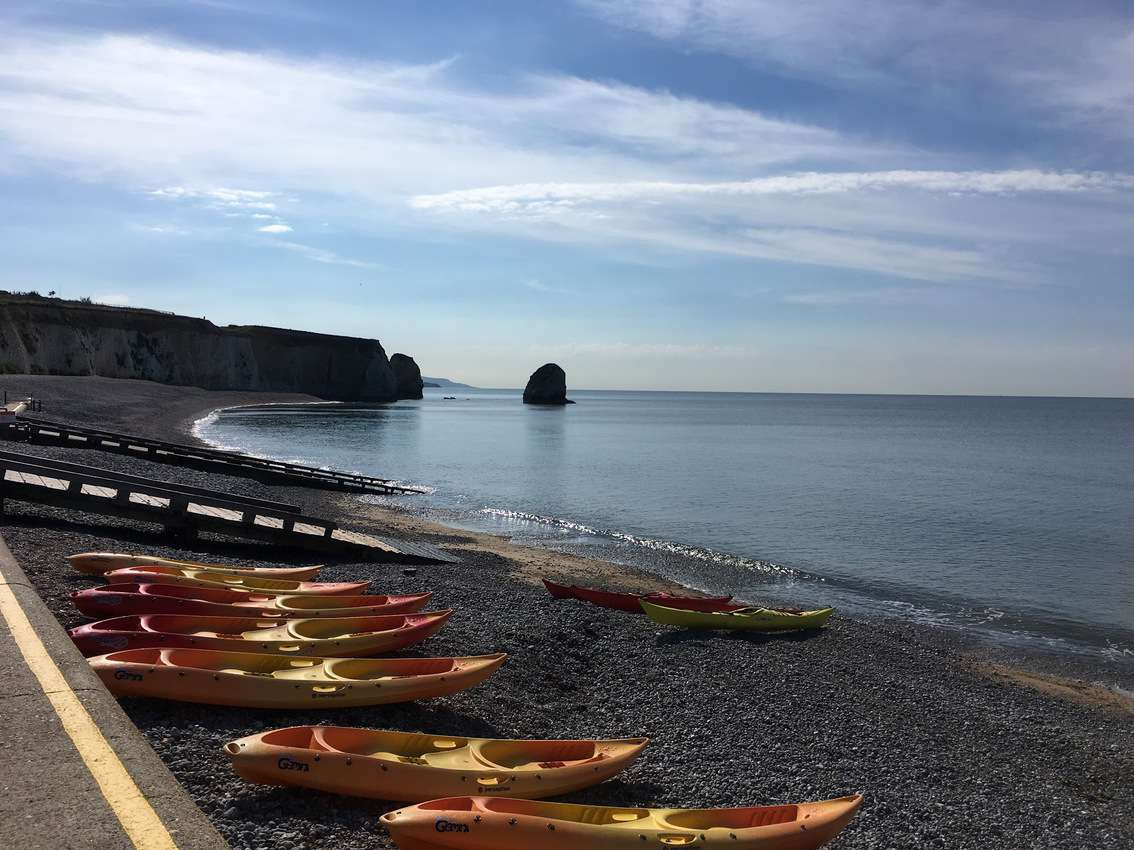 Freshwater Bay is a prime kayaking spot on the Isle of Wight.