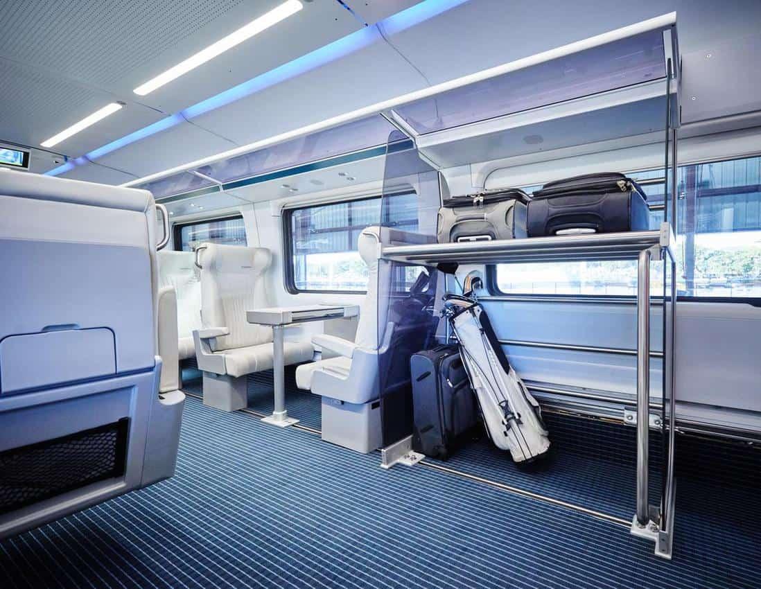 Virgin trains interior.