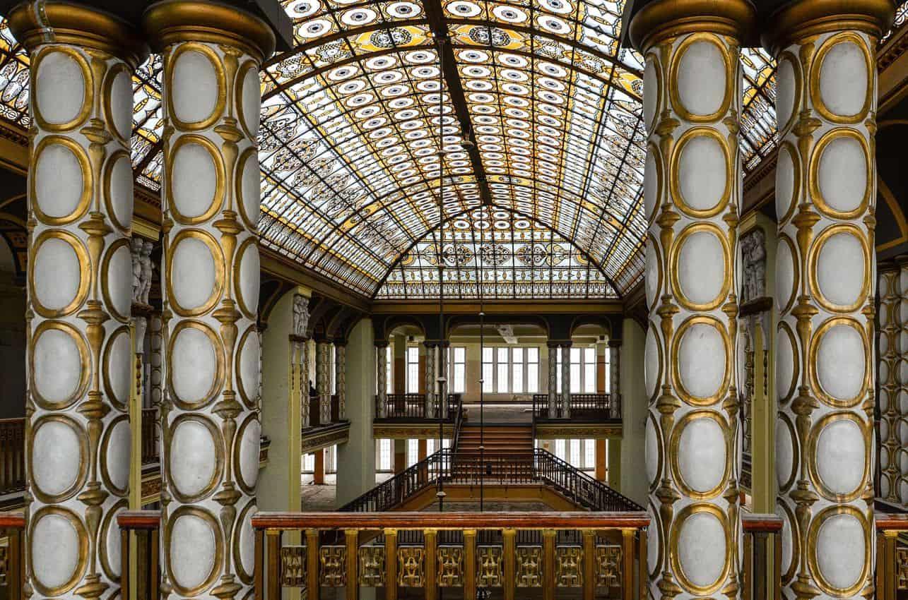 Inside the Art Nouveau building in Görlitz. Photo by Daniel Hoppe.