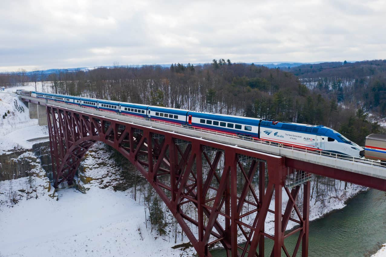 Manufactured in Hornell NY by French company Alstom, the sets are being sent to Colorado for high speed testing.
