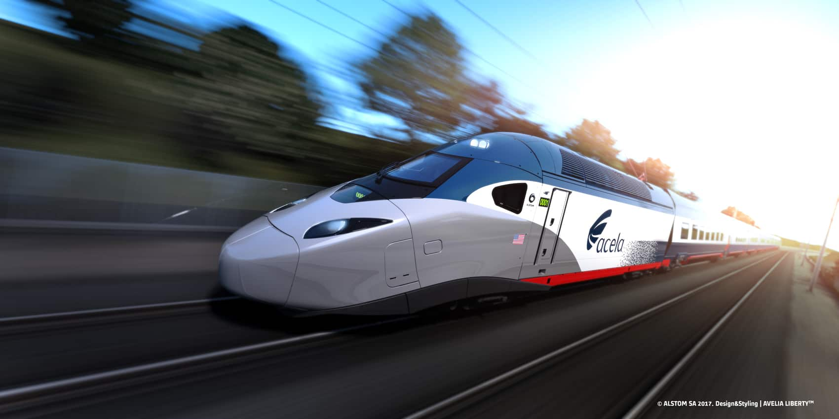 The sleek locomotives of the 165-miles-per-hour trainsets will resemble those found in Japan.