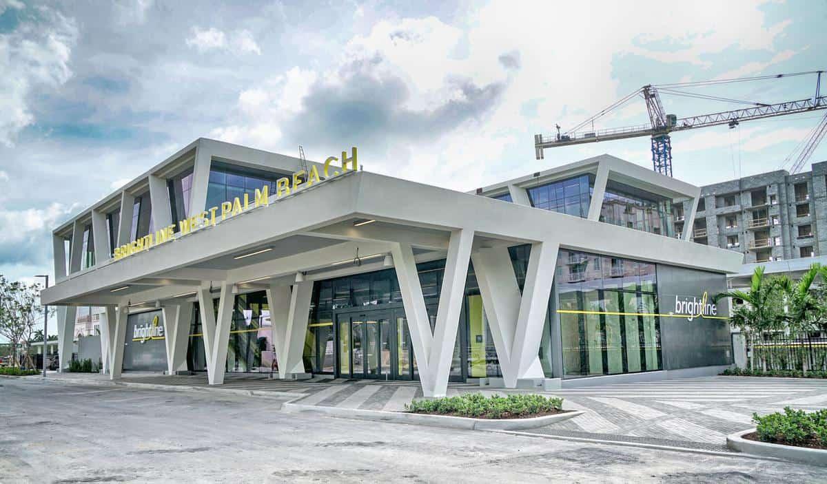 West Palm Beach train station.