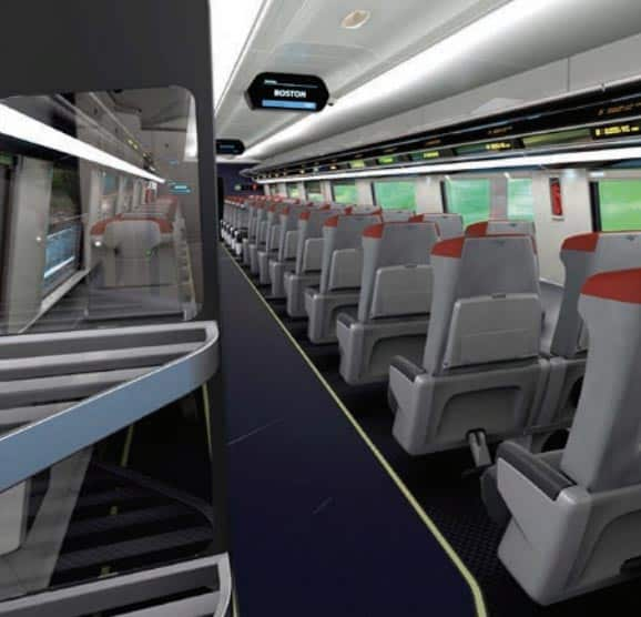 The interiors of the new trainsets.