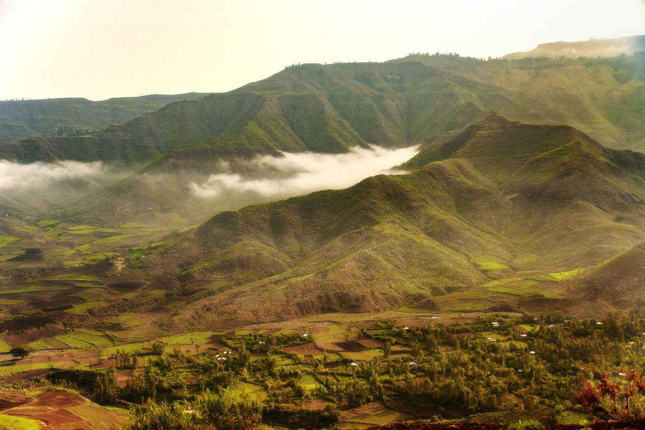 Ethiopian landscape. Photo by Rod Waddington.