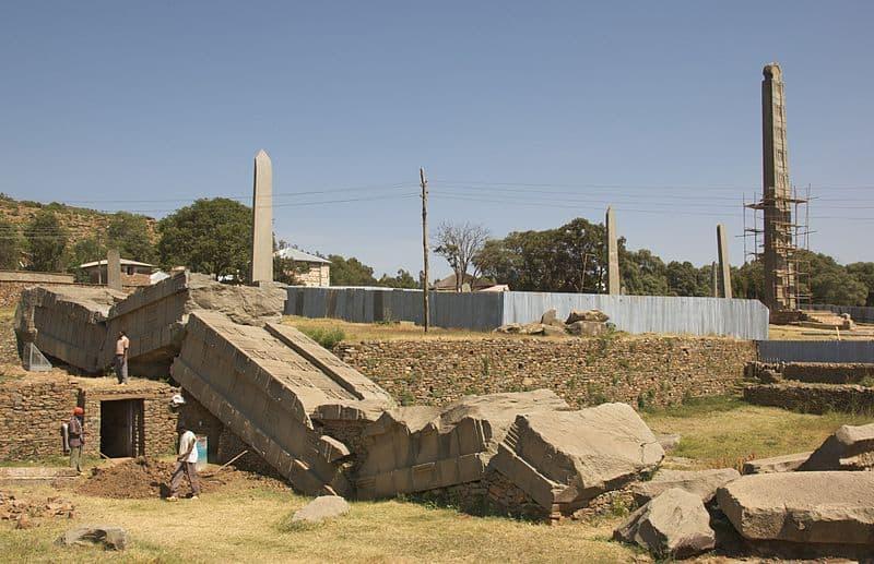 Stelae Park in Axum. Photo by A. Davey.