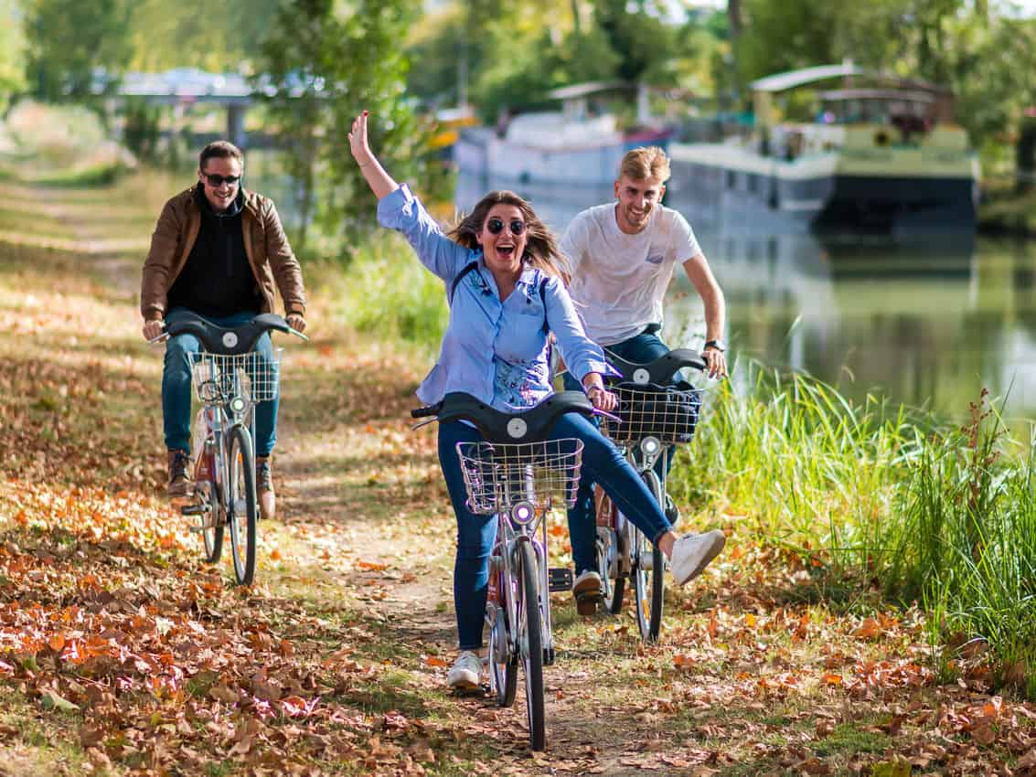 Biking along the river in Toulouse France. HapTag/Toulouse Tourism photo.