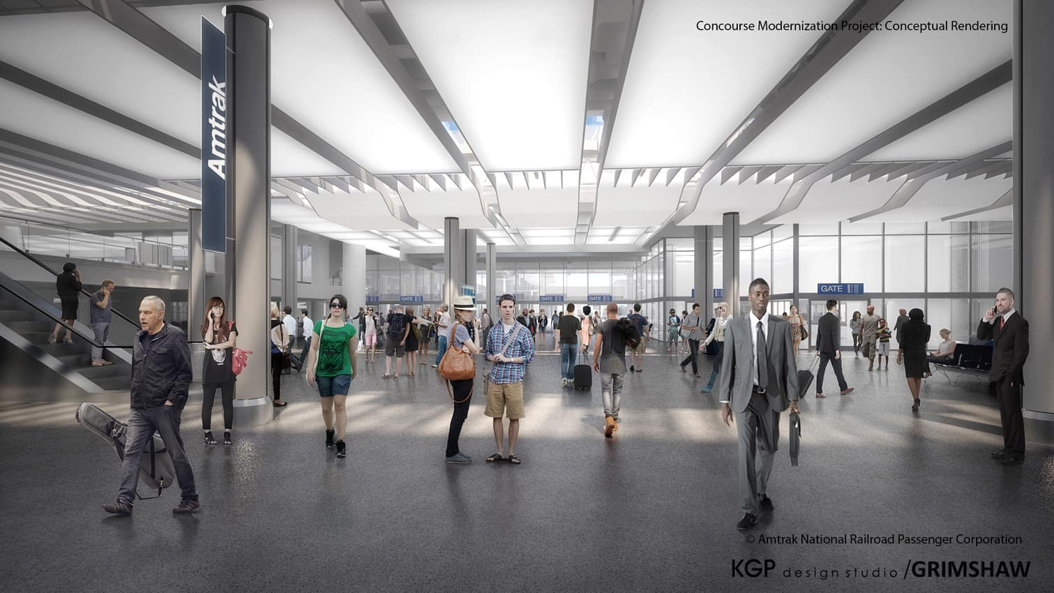 Concourse Union Station. AMTRAK photo.