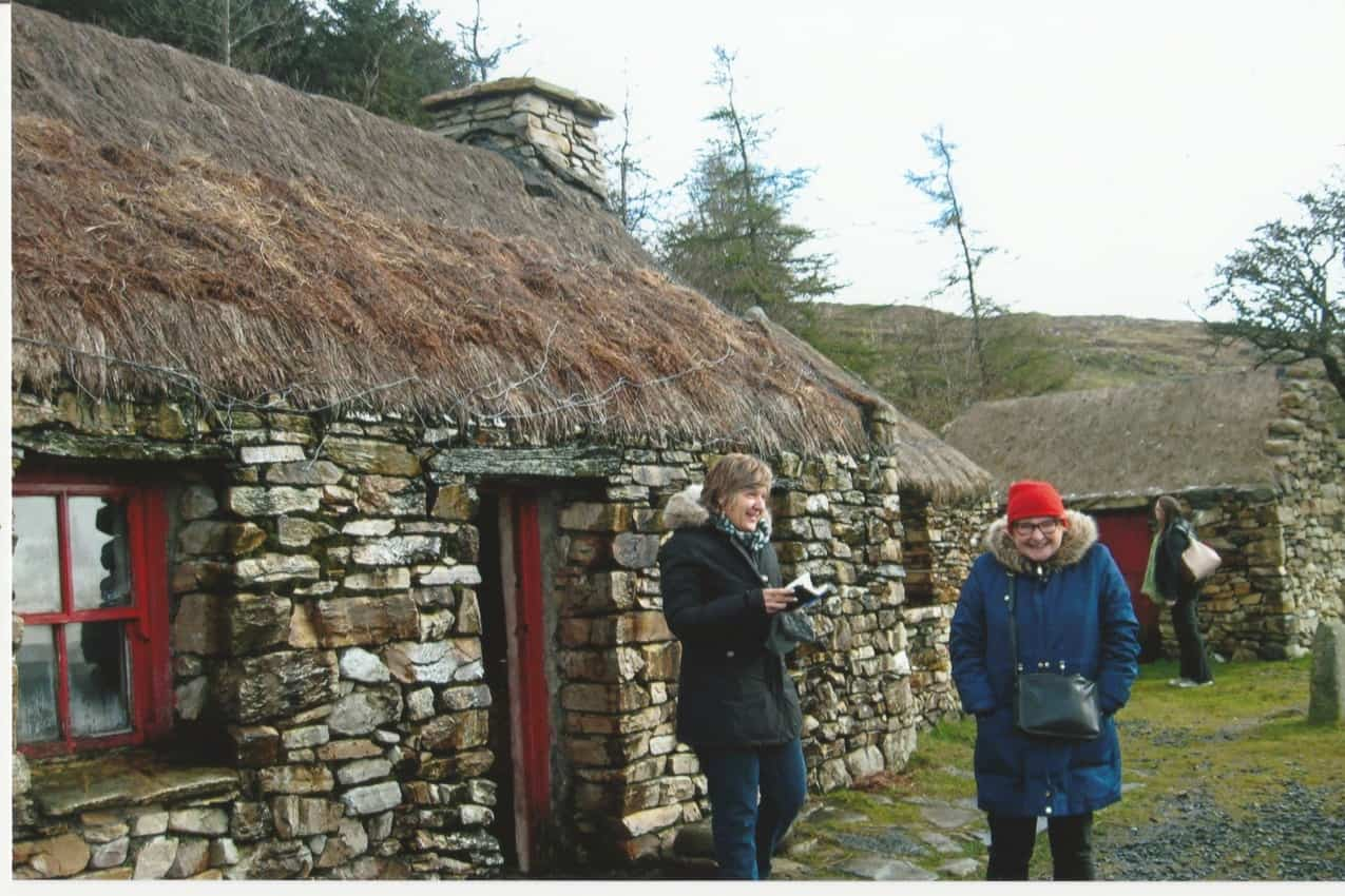 We had to duck to enter Dan O'Hara's Cottage, even though the poor tenant farmer was evicted for making a larger doorway than was allowed. Photo by Ginger Warder