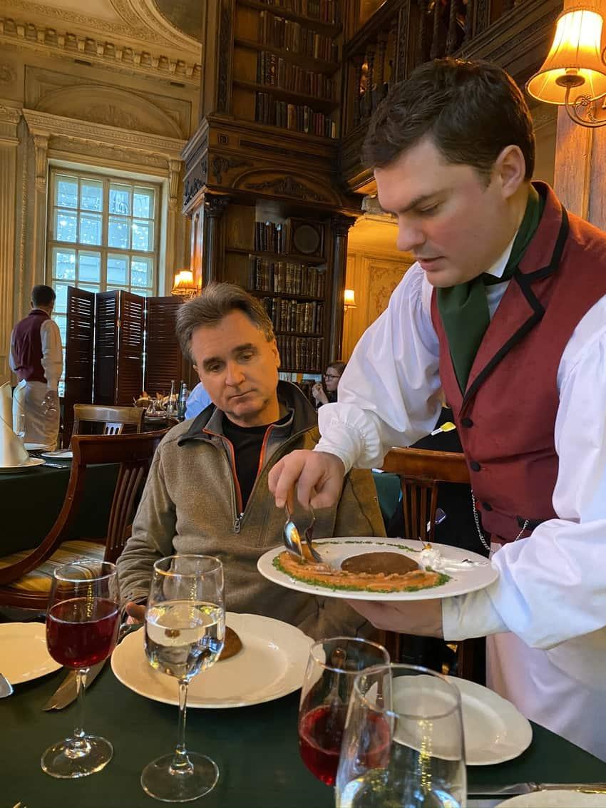 Saint Petersburg's Cafe Pushkin. Mike Lloyd photo.