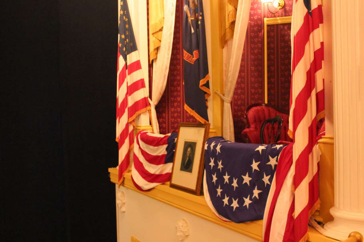 President Lincoln's box at Ford's Theater, where he was killed in 1865.
