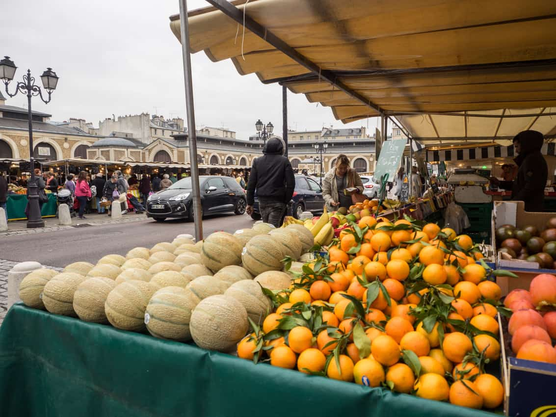 Versaille's Notre Dame Market, one of the best in France. Marc O. Carrion photo.