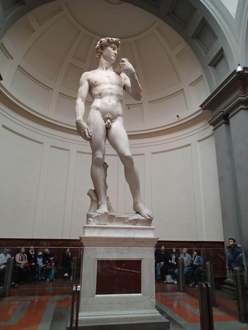 Michaelangelo planned to put this statue of David on the roof of the Duomo in Florence