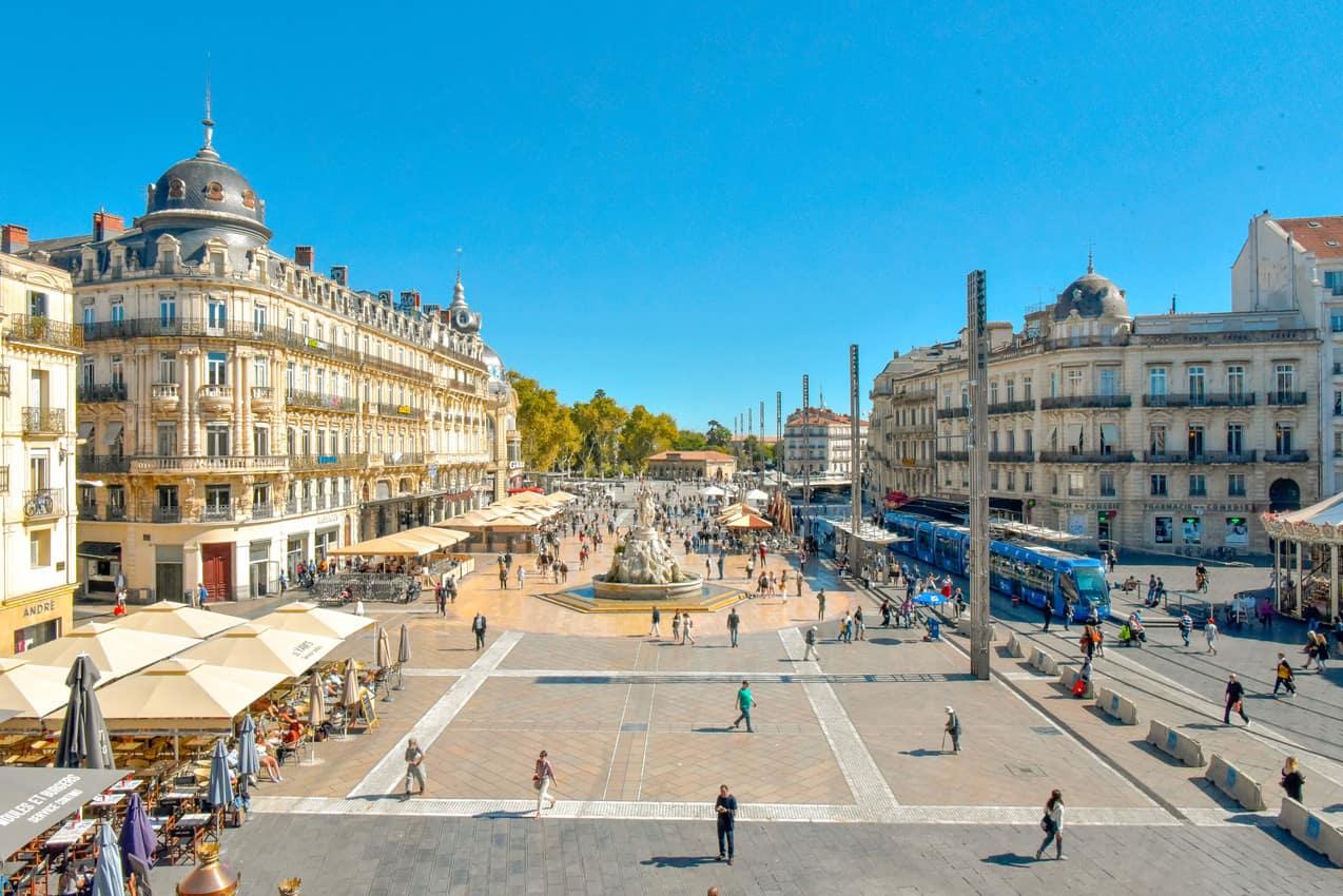 Place de la Comedie, Montpellier. H. Rubio/Montpellier Tourism photo.