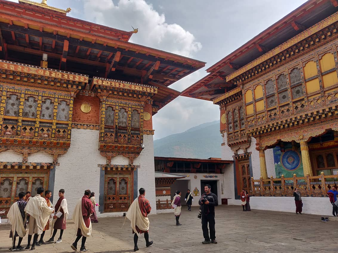 The huge Punakha Dzong, or monastery, in Bhutan.