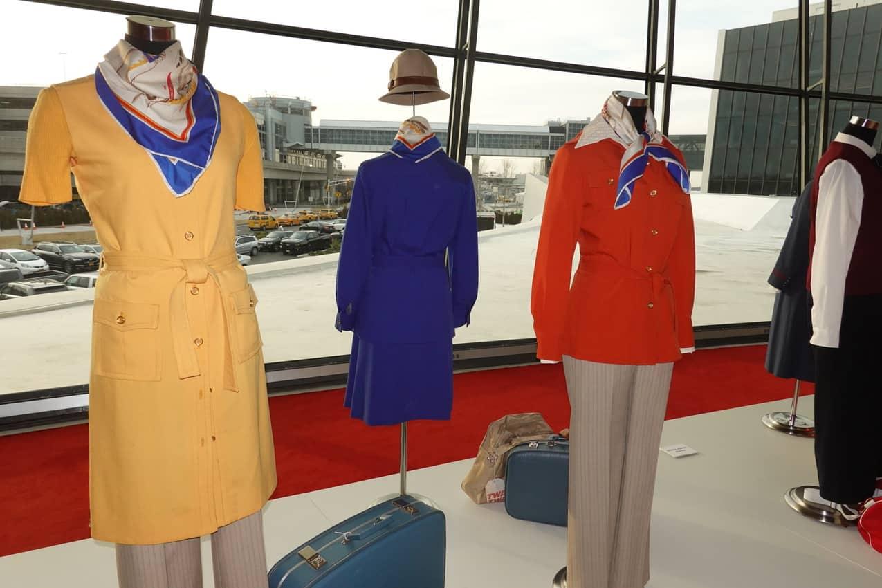 The TWA Museum featured flight attendant uniforms
