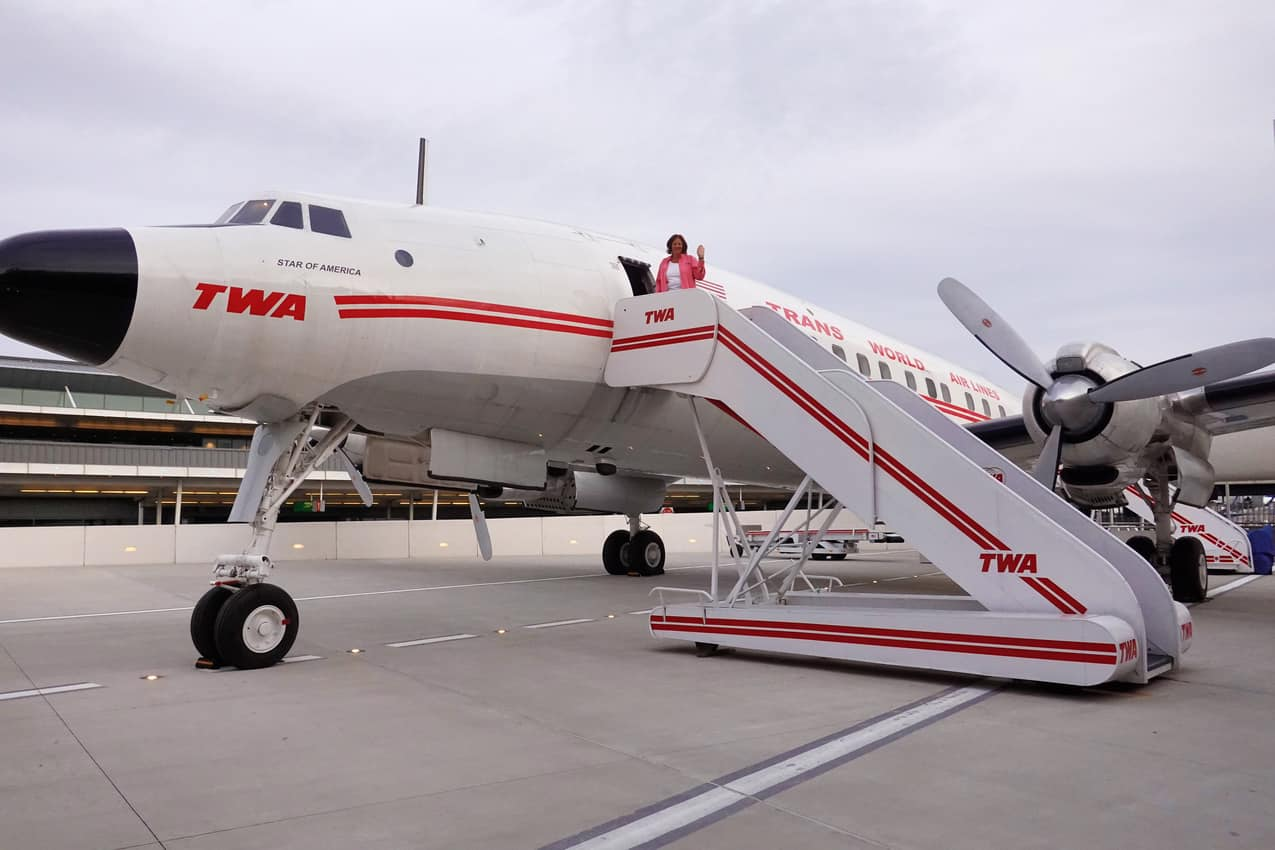 Visiting the 1957 Connie for a look and a drink
