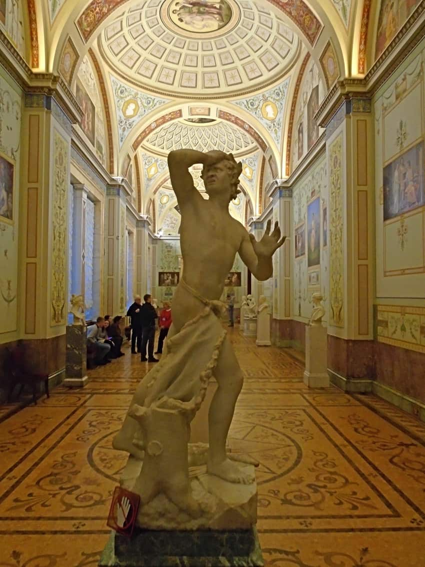 "Oh no, where's my wallet?"" Roman worrier at Saint Petersburg's Winter Palace 