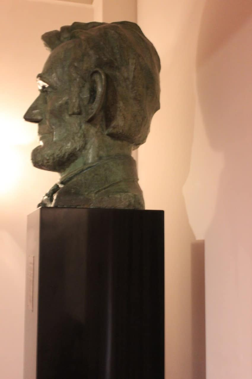 A bust of President Lincoln at Ford's Theater, Washington DC