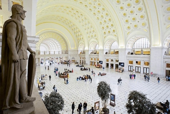 Union Station has served Washington DC since it was built in 1908.