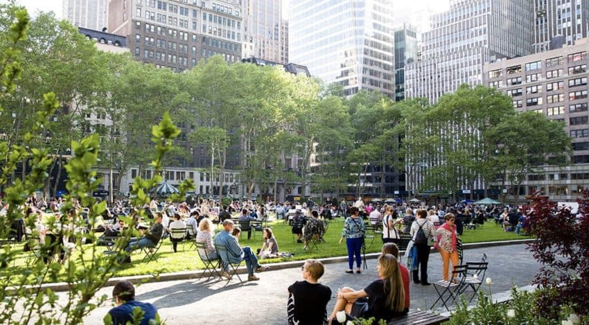 Bryant Park New York City.