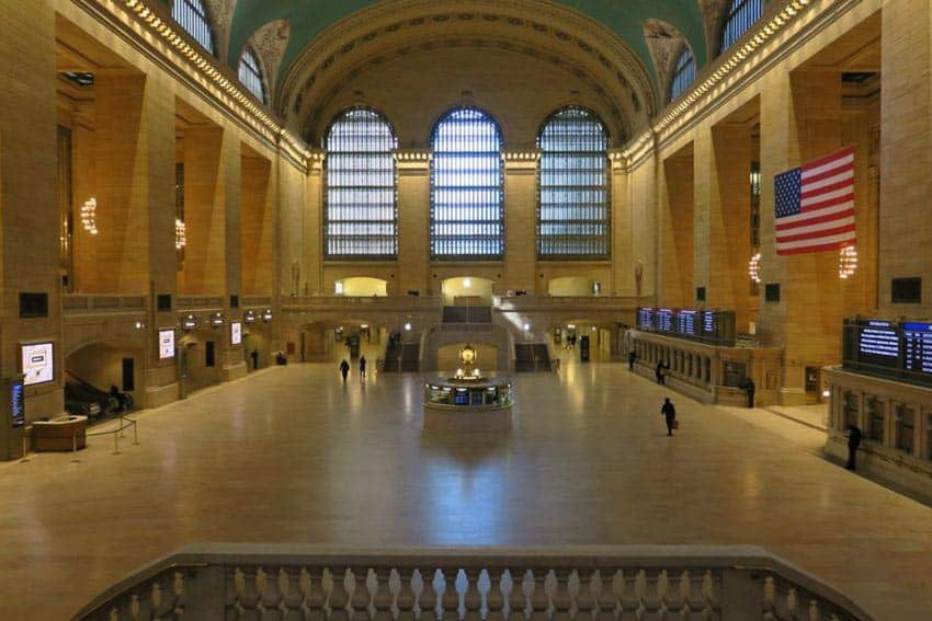 Manhattan's famous Grand Central Station during the pandemic in 2020.