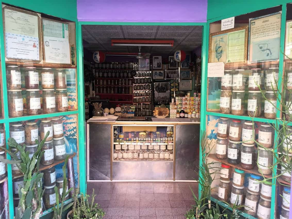 A pharmacy in Laayoune Western Sahara.