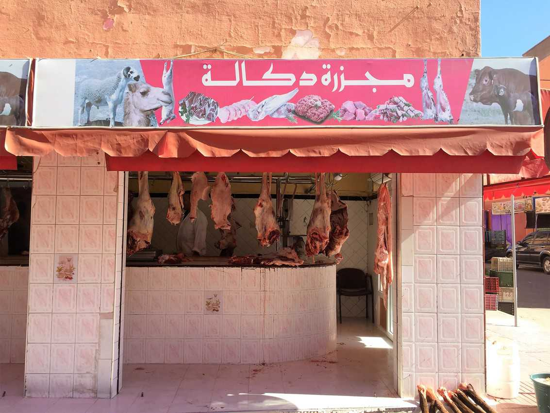 A butcher shop in Laayoune.