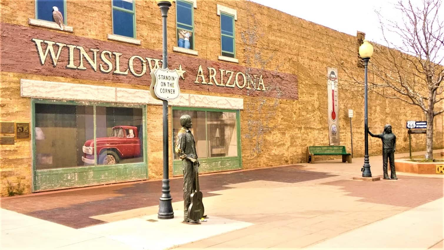 No one was standing on the corner in Winslow, AZ, except statues 14. Wigwam Motel, Holbrook, AZ