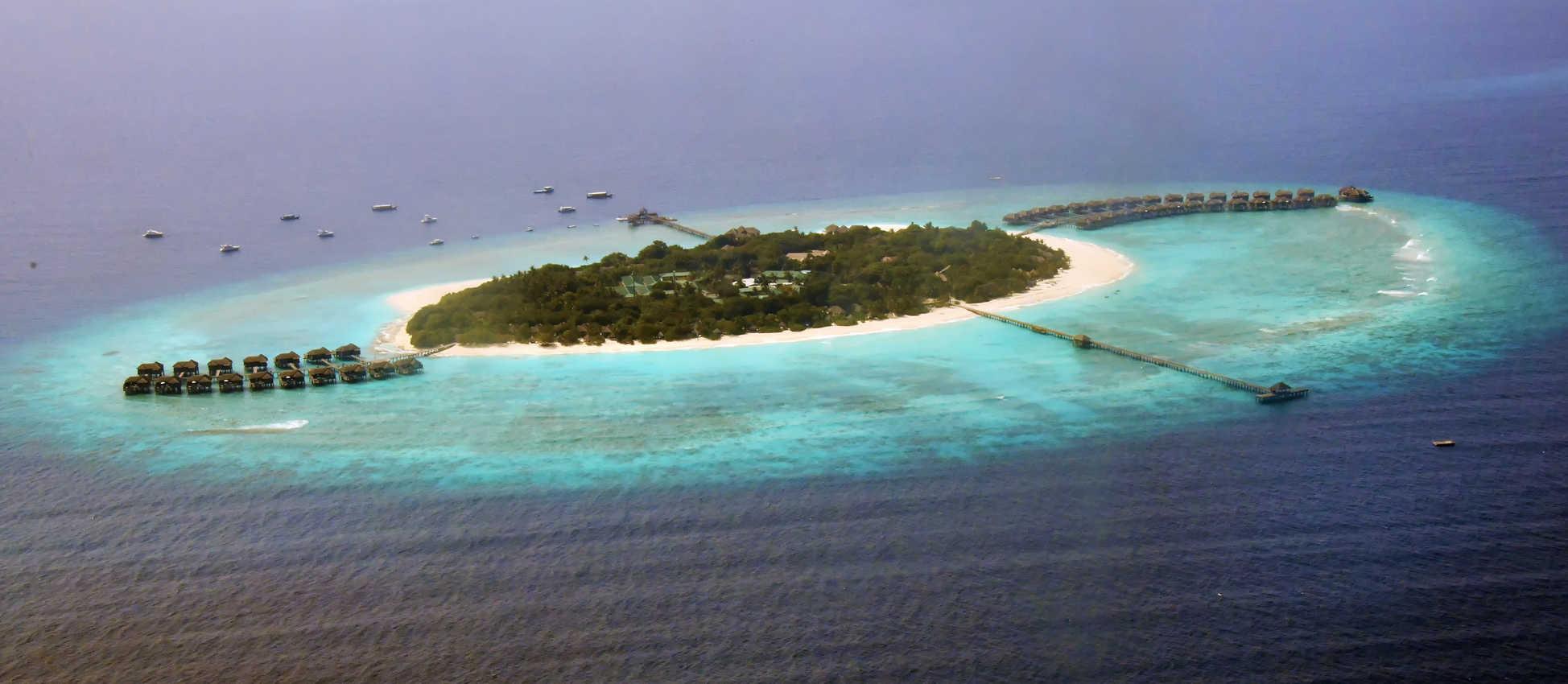 Seaplane view of J A Manafaru resort