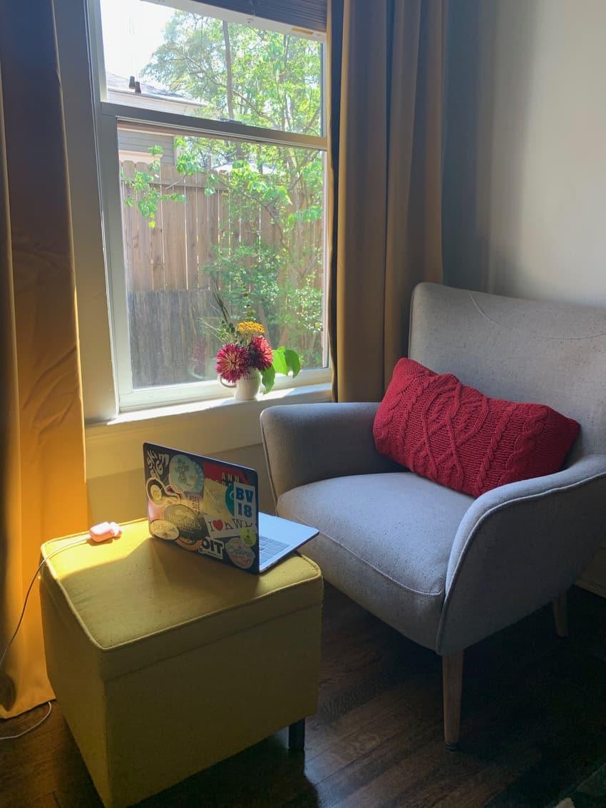 Sue Collin's cozy nook in Georgia.