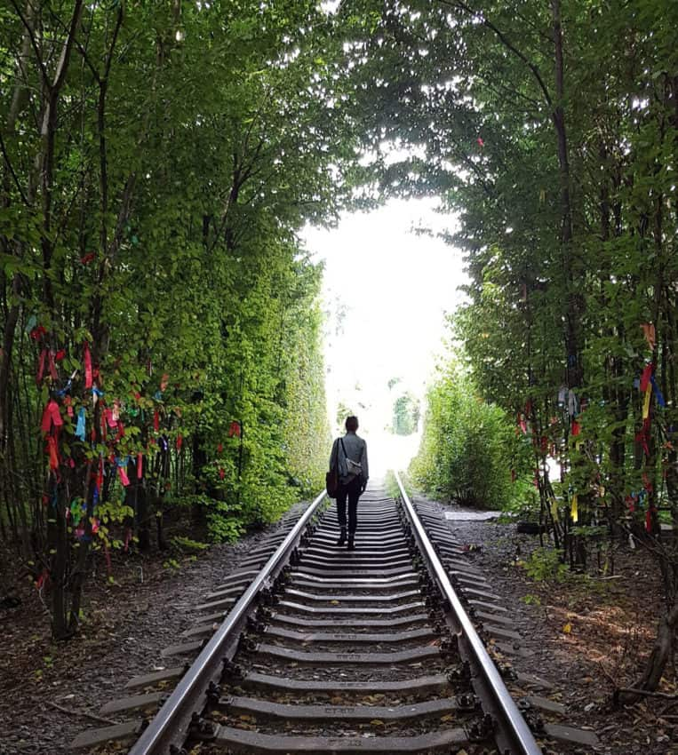 Klevan's Tunnel of Love, of recent Instagram fame, in Ukraine.