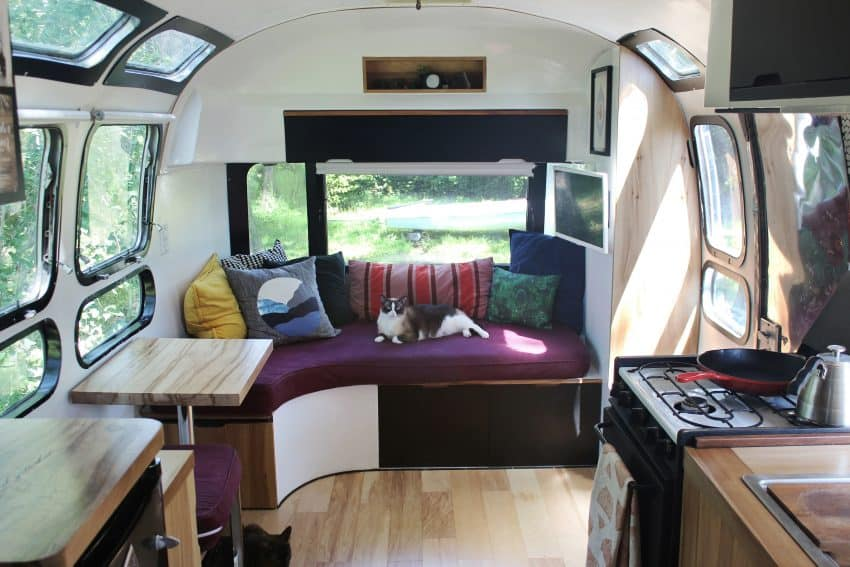 The Guidry's customized 1972 Airstream.