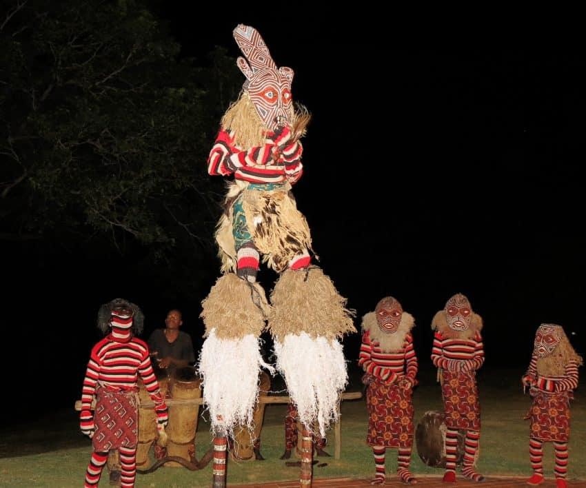 The cultural dance show at the Victoria Falls Hotel